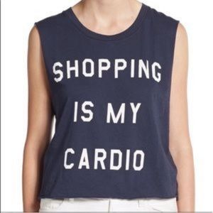 Wild fox navy shopping is my cardio tank top